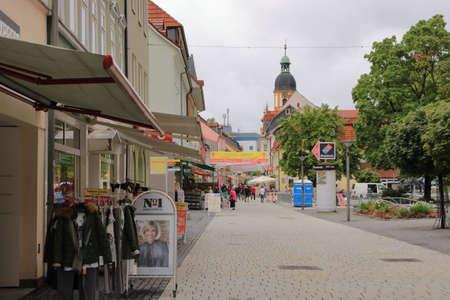 August 07 2019 - Suhl, Thüringen, Germany: Old town of Suhl in Germany