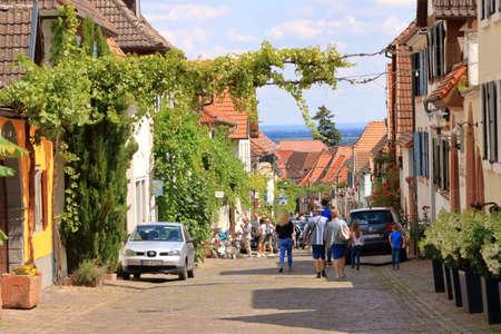 July 11 2020 - Rhodt unter Rietburg in der Pfalz, Germany: historical street in Rhodt Rietburg, Germany