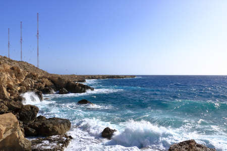 Cape Greco and the blue lagoon near agia napa in Cyprus Stok Fotoğraf