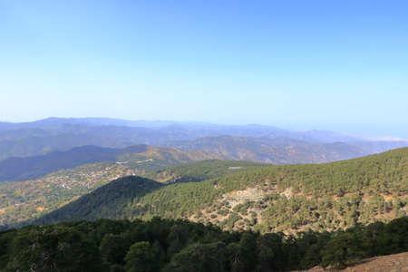 Troodos mountains in Cyprus, close to Mount Olympus, popular for area for tourists, hikes and quads