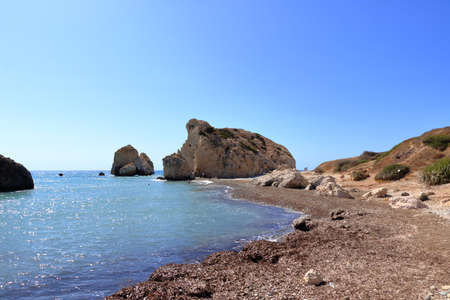 Aphrodite's rock and beach in Cyprus called Petra tou Romiou