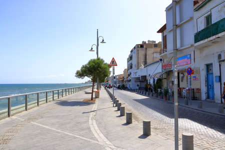 September 30, 2020 - LARNACA, CYPRUS: sunny day on Finikoudes promenade, calm life because of the corona pandemic Editöryel