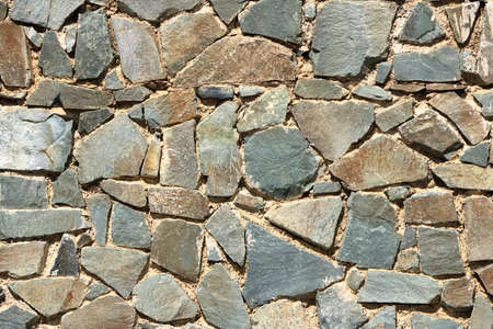 Background of a decorate green stone wall surface