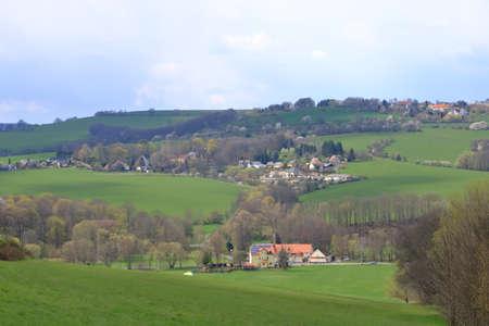 a small village near Kreischa near Dresden in Saxony in Germany 免版税图像