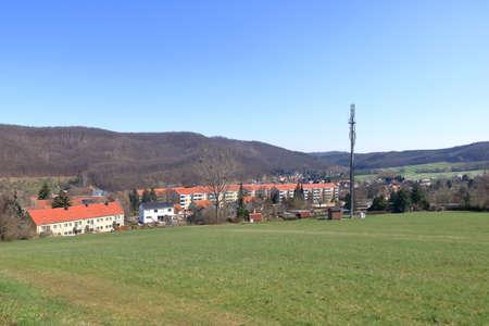 The rural landscape near freital near dresden