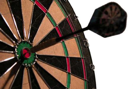 arrow pinned in the bulls eye