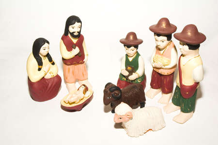 a Christmas scene celebrating the birth of Jesus Christ