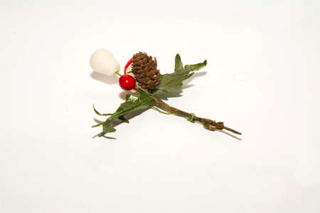a Christmas decoration isolated against white background