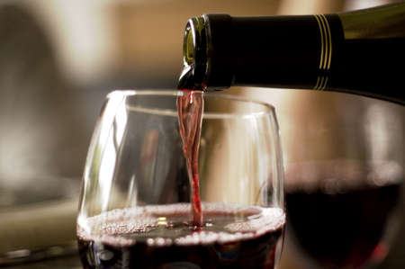 wine pouring from bottle into glass Stock Photo - 2796548