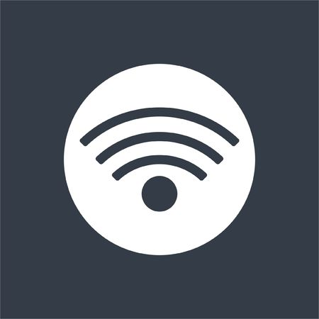 wireles: wireless internet icon flat design Stock Photo
