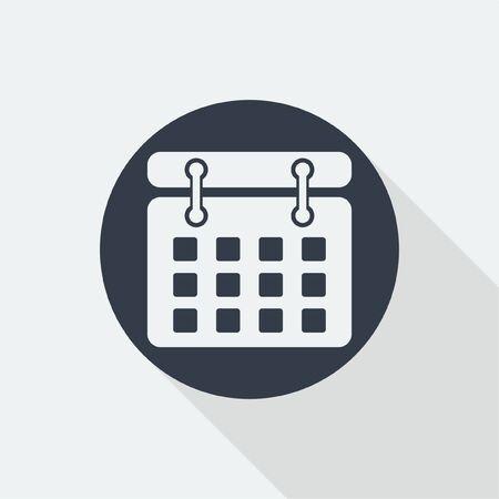 agenda: agenda calendar icon flat design Illustration