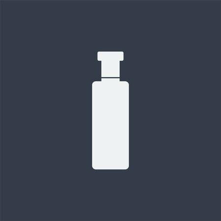 flat: bottle flat design icon