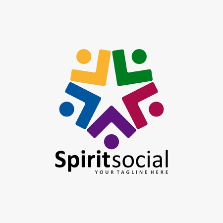 industrial design: the social humanity logo icon