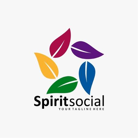 humanity: social humanity logo icon Illustration