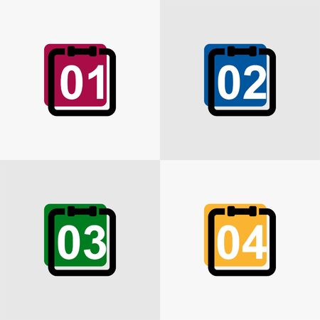 agenda: the best agenda icon SEO website full colors Illustration