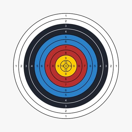 Illustration vectorielle imprimable cible tir à l'arc Banque d'images - 94961357
