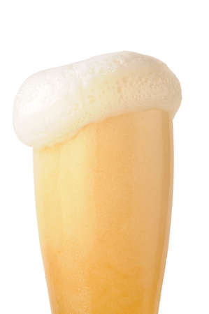 beer foam under glass on white background Stock Photo - 3188371