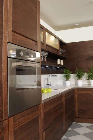 working spase on modern kitchen photo
