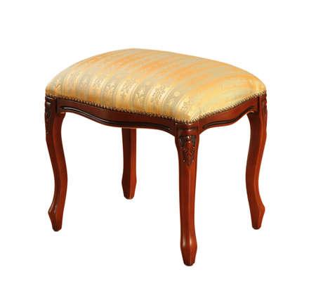 padded: padded stool on white background