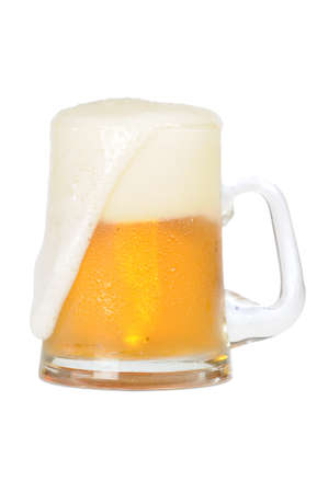 Cold beer mug on white background Stock Photo - 3995290