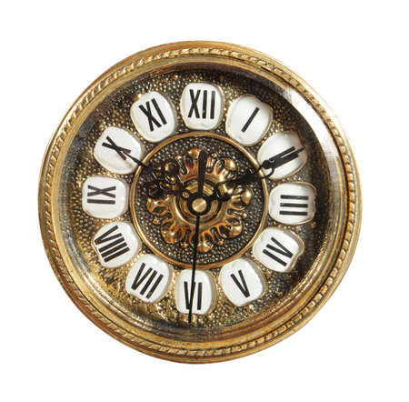 grandfather clock:  isolated old-fashioned clock