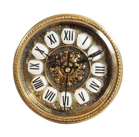 isolierte altmodischen Uhr