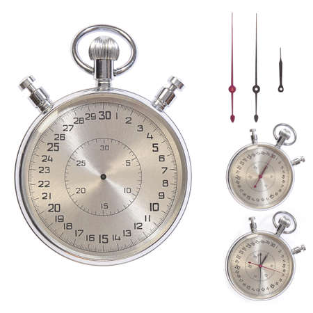 Stop-watch. Clock-face and pointers separately. paths photo