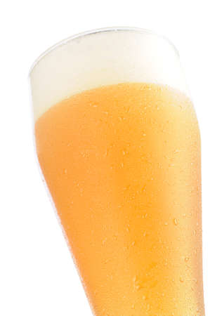 Cold beer glass on white background Stock Photo - 4235736