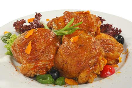 muslos: s�lo preparado muslos de pollo frito en friture