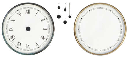 grandfather clock:  isolated classic clock on white