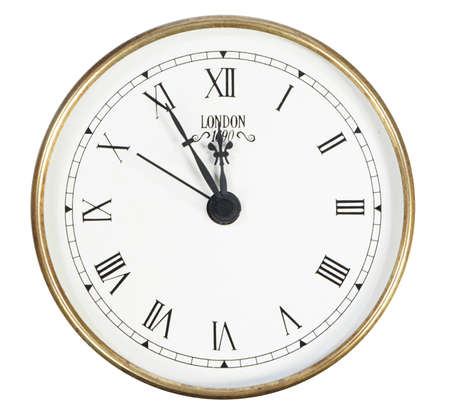 isolated classic clock on white