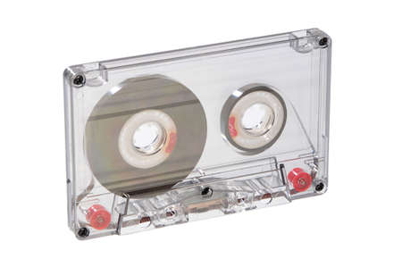 old audio cassette, isolated on white Stock Photo - 4712676