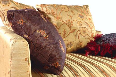 Beautiful colorful decorative cushions  Stock Photo