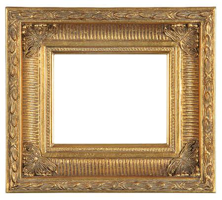 isolated decorative bronze frame Stock Photo - 5663626