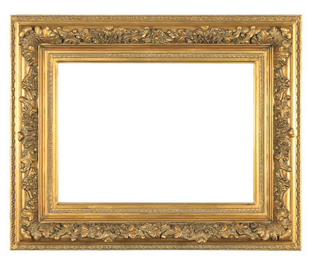 isolated decorative bronze frame photo