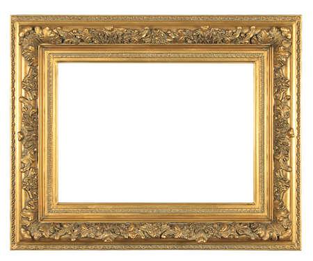 isolated decorative bronze frame Stock Photo - 5778851