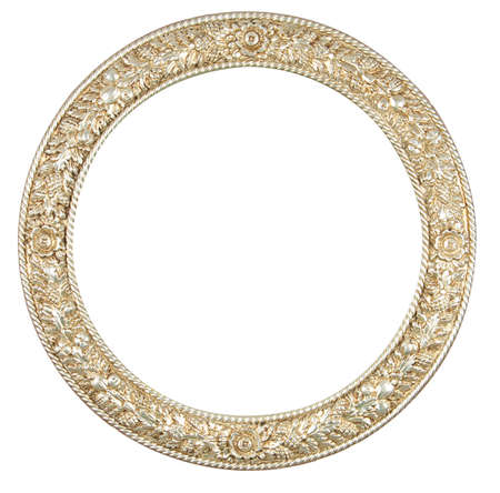 round frame: isolated circle frame Stock Photo