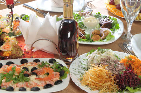 alcohol and restaurant appetizers photo
