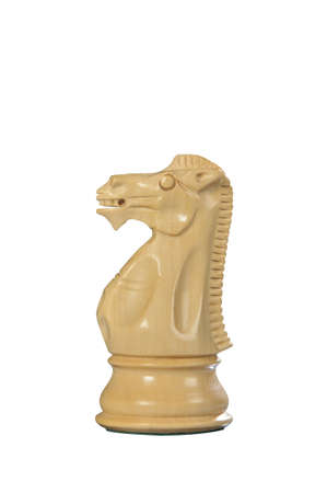 White wooden horse - one of 12 different chess piece