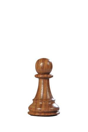 Black (Browne) wooden pawn queen - one of 12 different chess pieces.