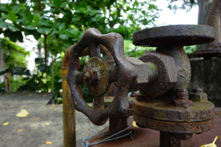 Old rusted water valve