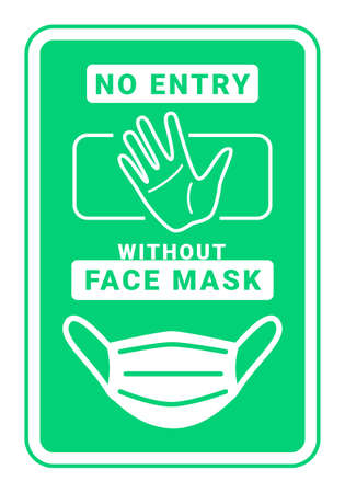 face mask and face covering required vector