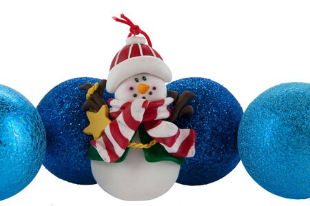 A picture of the christmas set (snowballs and snowman) photo