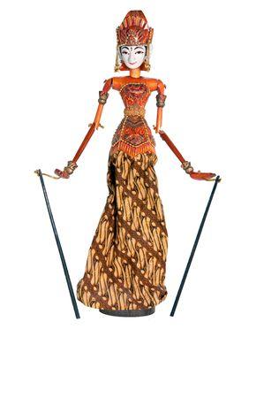 Das Bild von cute Puppet aus Bali  Standard-Bild