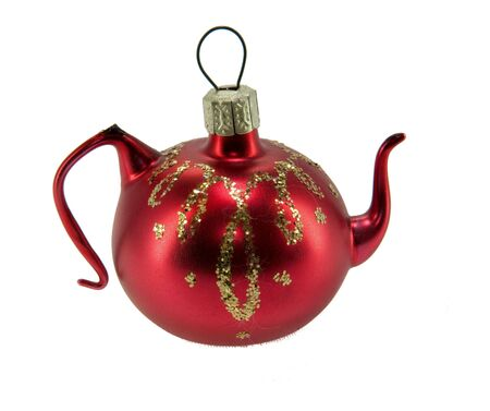 abstractly: The picture of cute christmas decoration teapot