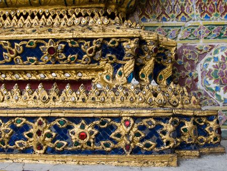 venerate: details of the King palace of Thailand Stock Photo