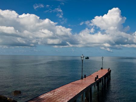 The picture of pier of the paradise at the mirax island at cambodia Stock Photo - 5940951