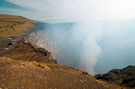 lave: The picture of the Volcano Masaya in Nicaragua