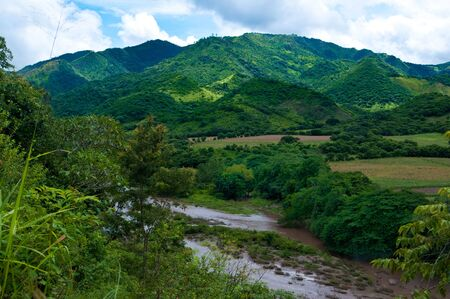 Nicaragua: River in the mountains of Nicaragua Stock Photo