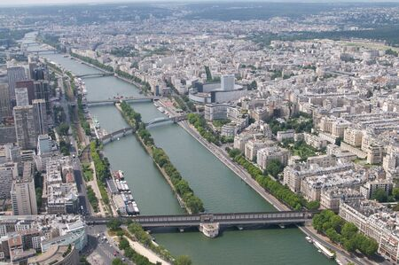 The view from the top of the Eifel tower photo